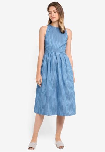 90e4a88e5f18 Something Borrowed blue Cut In Sleeveless Midi Dress 69918AAA565870GS 1