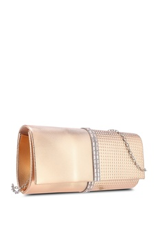 a167ad44737 25% OFF Unisa Deboss Pattern Dinner Clutch With Glittering Stones   Crystal  S  35.90 NOW S  26.92 Sizes One Size