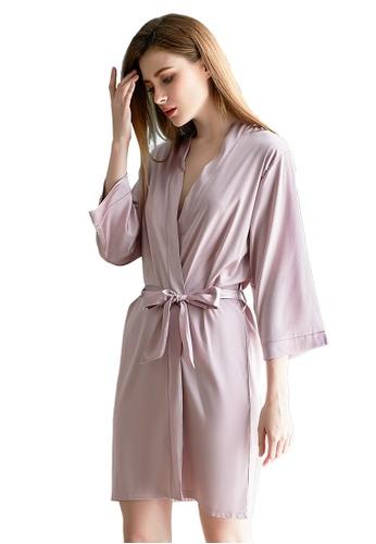 LYCKA pink LCB2161-Lady One Piece Casual Robe Nightwear-Pink A1CE4US2EDBB6AGS_1