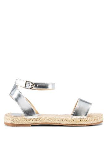 Velvet silver Liv Open Toe Espadrille Sandals 29275SHD425F41GS_1
