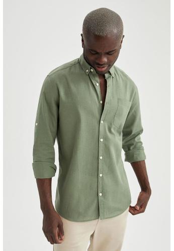 DeFacto green Long Sleeve Shirt E6B5BAA294B965GS_1