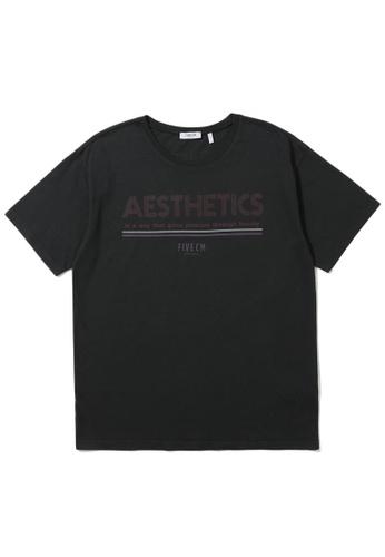 "Fivecm black ""AESTHETICS"" tee BC945AA9A32A5BGS_1"