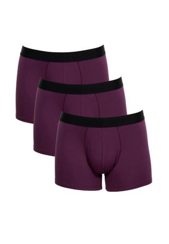FANCIES 紫色 FANCIES  波尔多四角裤-三件套爱心机 B511EUS426E8A7GS_1