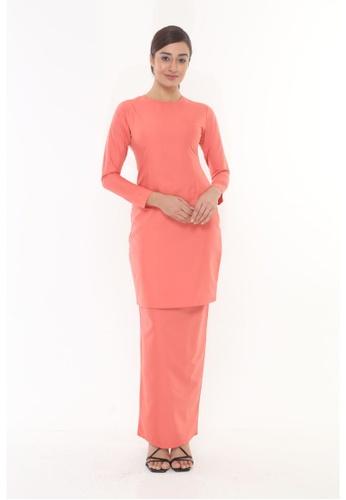 Amar Amran orange Baju Kurung Moden Qasandra 19B39AAAA674F7GS_1