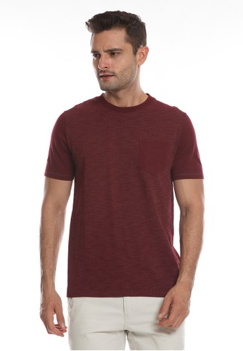 Men's Top red BRIGG-MAROON T-shirt DF877AA0E730CAGS_1