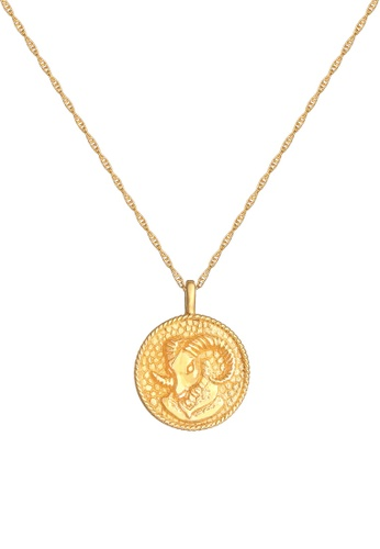 ELLI GERMANY gold Zodiac Sign Aries Coin Gold Necklace 08EF2AC013DD59GS_1