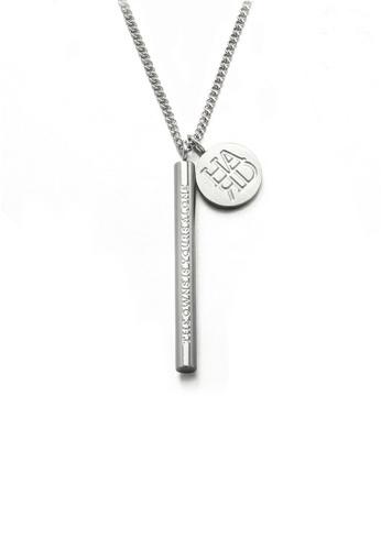 HAPPY FRIDAYS Stylish Cylinder Round Brand Necklace DWX0525-1 640FAACA71423FGS_1