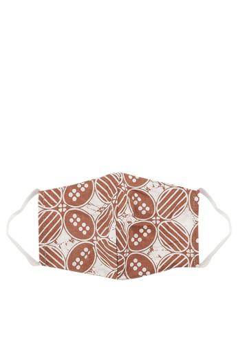 MITHLABS brown Masker Batik 65457ESEB0AAA9GS_1