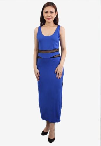 10b6bba7868e Shop OOTD Scoop Neck Split Bodycon Dress Online on ZALORA Philippines
