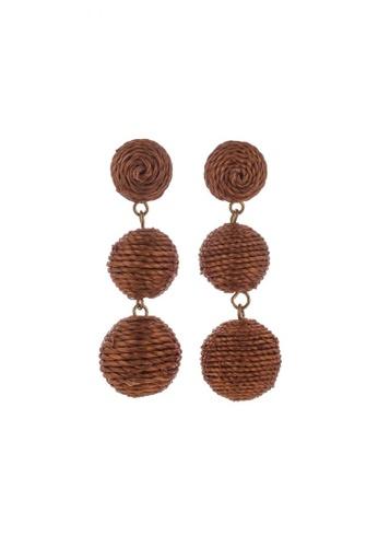 Style Cat brown Style Cat Havana Ball Earrings 1CCF1AC1479D05GS_1