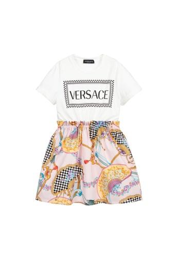 Versace white and multi VERSACE GIRLS DRESS 88C54KA01D27FCGS_1