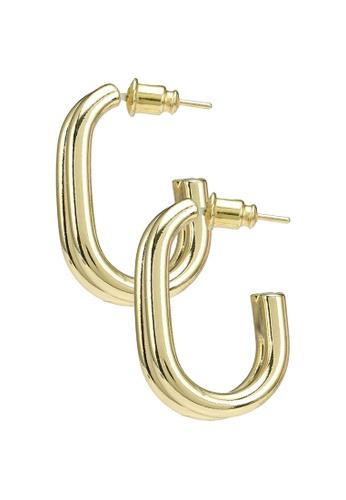 Red's Revenge gold Minimal Charm Hoop Earrings 30C00AC46ADAB7GS_1