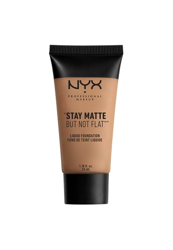 NYX Professional Makeup beige NYX Professional Makeup Stay Matte But Not Flat Liquid Foundation - NUTMEG 62C80BECCFA6E8GS_1