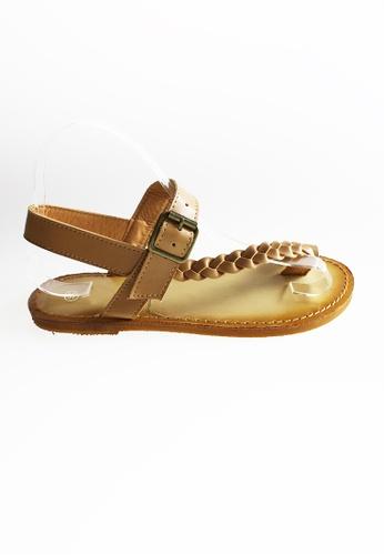 Seoul in Love brown Erza Braided Sandals SE496SH18XFPSG_1
