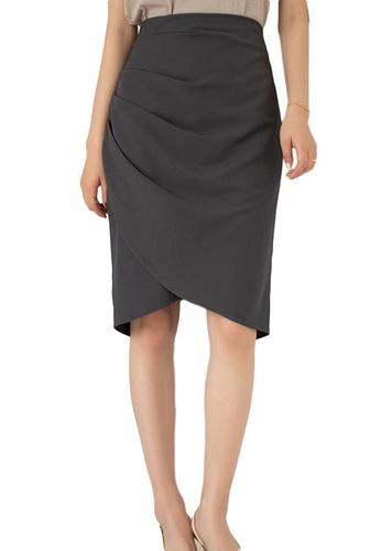 Sunnydaysweety grey Korean High Waist Wrap Hip Skirt A21031205GY 1B3ABAAD3279F9GS_1