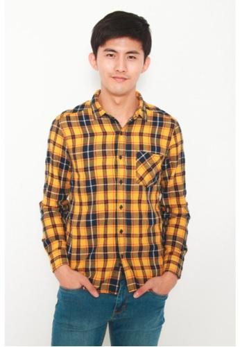 DENIZEN yellow DENIZEN Men's Long Sleeve Casual Shirt C9BC3AAEF69C84GS_1