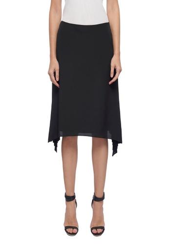 CK CALVIN KLEIN black Lightweight Pleated Skirt 31385AA8AC4795GS_1