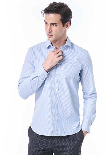 Sisley blue Slim Fit shirt 619ACAA2AB3FF8GS_1