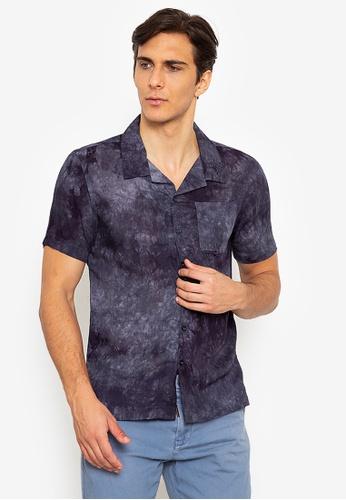 Zeb & Beileag grey Jack Open Collar Dyed Shirt 555AEAA68E19AFGS_1