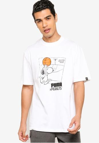 PUMA white PUMA x PEANUTS Men's Tee 29039AA7DA02ACGS_1