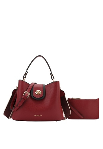 Swiss Polo red 2 in 1 Top-Handle Sling Bag 4F323AC1911863GS_1