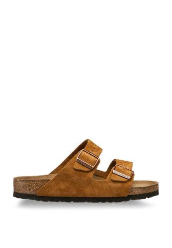 Birkenstock brown Arizona Suede Sandals 921F0SH2A67CF4GS_1