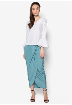 Suzanna Bell Sleeves Linen Kurung
