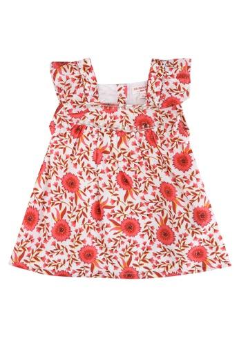 Du Pareil Au Même (DPAM) beige Baby Girl Skater Dress With Floral Print 49537KA9465D60GS_1