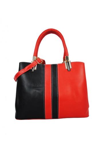 Kimbel International black and red BCA001 Handbag with Sling 7D825AC876EB3DGS_1