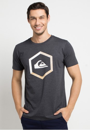 Quiksilver grey Multi-Hex Mod T-Shirt 65312AA782434EGS_1