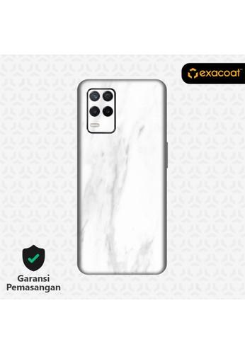 Exacoat Realme 8 5G Skins Stone Series - Marble White 0083DES86BE1B6GS_1