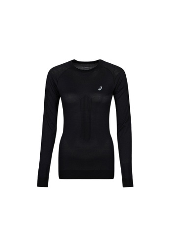 Asics black WINTER SEAMLESS LS TOP 2012B055-001 14085AA0C5A880GS_1