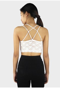 Sexy Lace Knotted Back Strap Top/ Bralette