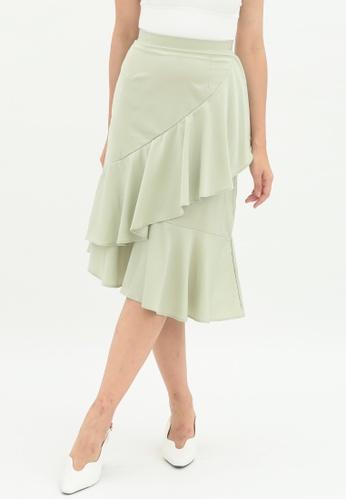 Love Knot green Lily Ruffle Layered Skirt (Green) FC2F5AAEB9378EGS_1