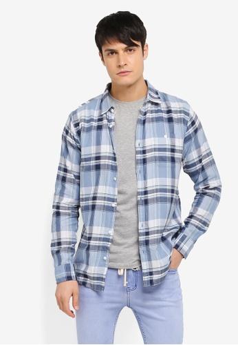 Cotton On blue Rugged Light Shirt CO372AA0SSB6MY_1
