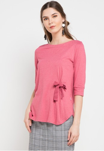 Exit pink Bella Shirt With Eyelet F6546AAC8DE995GS_1