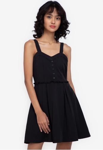 ZALORA BASICS black Sweetheart Neckline Mini Dress D4F29AAFB16A82GS_1