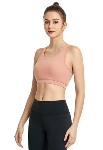 B-Code pink ZWG1112a-Lady Quick Drying Running Fitness Yoga Sports Bra-Pink 524D3AAA693685GS_1