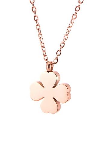 CELOVIS gold CELOVIS - Destiny Four Leaf Clover Necklace in Rose Gold F068CACDD4B1F0GS_1