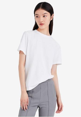 URBAN REVIVO white Casual T-Shirt 944CAAAD17E931GS_1