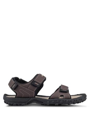 Weinbrenner brown Strap On Sandals 1CB07SHBFA1358GS_1