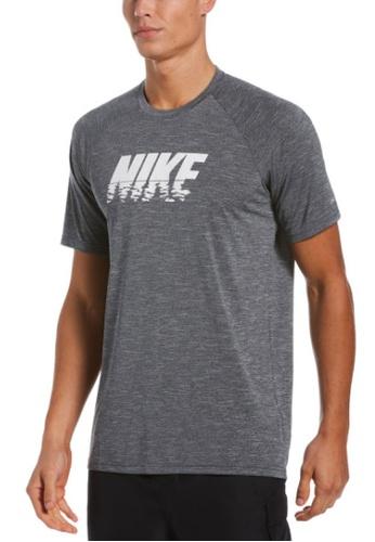 Nike grey Nike Heather Sunset Logo Short Sleeve Hydroguard 3E499US054832FGS_1