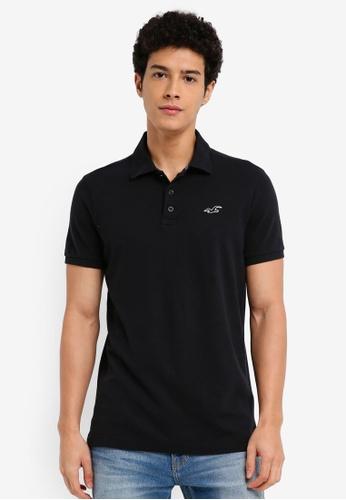 Hollister black Core Polo Shirt 46202AA2DB4395GS_1