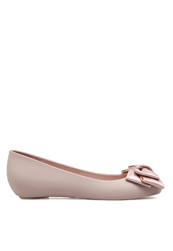 Twenty Eight Shoes pink Two Tones Bow Jelly Rain Shoes VR1838 46E7CSH1B3448CGS_1