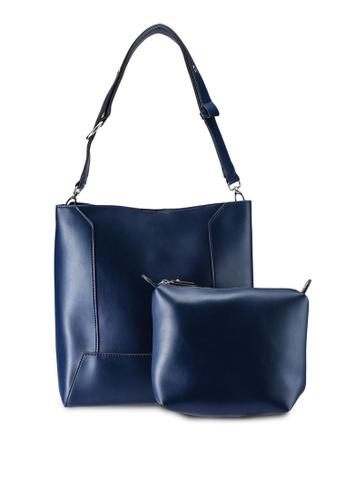 Perllini Mel navy Faux Leather Bag-In-Bag Single Handle Bag  B19D3ACC12E441GS 1 14f271b01b79a