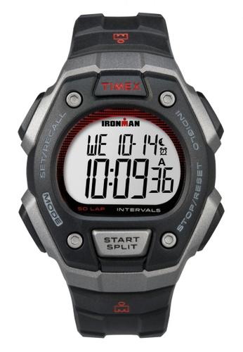 TIMEX black Timex IRONMAN® Classic 50-Lap Full-Size - Black Resin Strap TI857AC32WMDSG_1