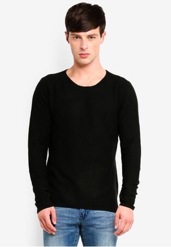 Jack & Jones 黑色 羊毛混合物針織套頭上衣 401B2AAE124AB7GS_1