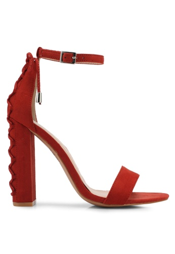 Something Borrowed red Lace Up Open Toe Heel 9CB9CSH30B8CF2GS_1
