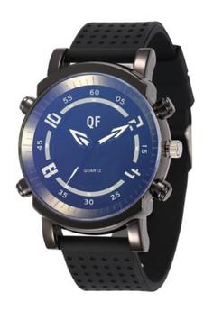 QF Men's Silicone Strap Watch (1063BK)