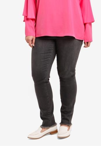 Junarose grey Plus Size Five NW Slim Ankle Dark Grey Denim JU731AA0S49JMY_1
